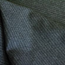 75% OFF Half Price Grey Pin Stripe Wool Flannel Fabric 150cm Wide